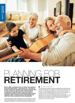 planning for retirement guide pdf front page