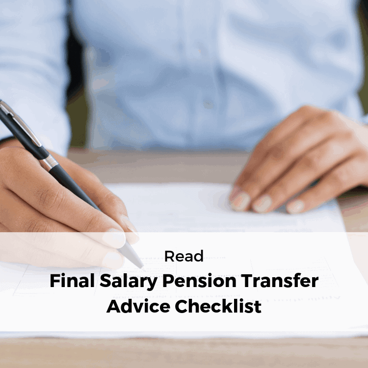 Final Salary Pension Advice Checklist