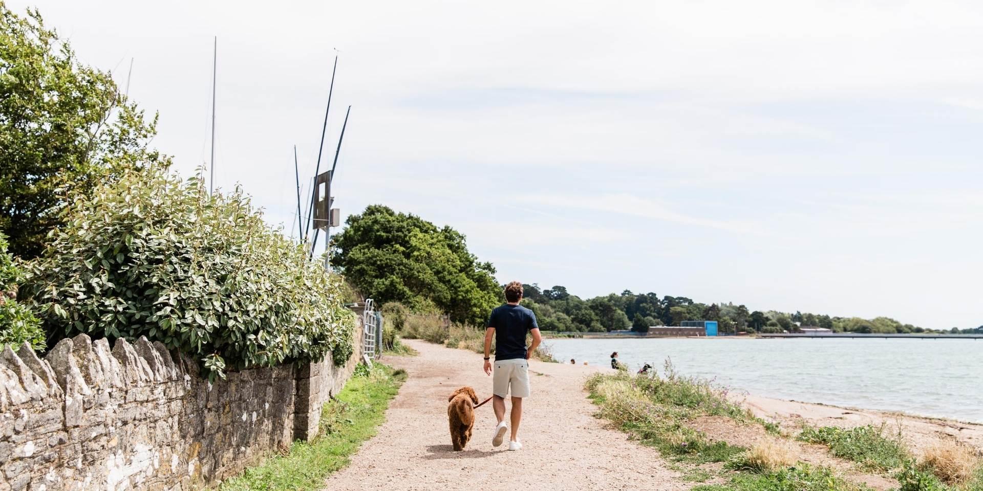 Southampton waterfront - financial advisor Simon garber walking in warsash