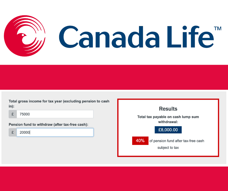 Canada Life Pension Lump Sum Tax Calculator