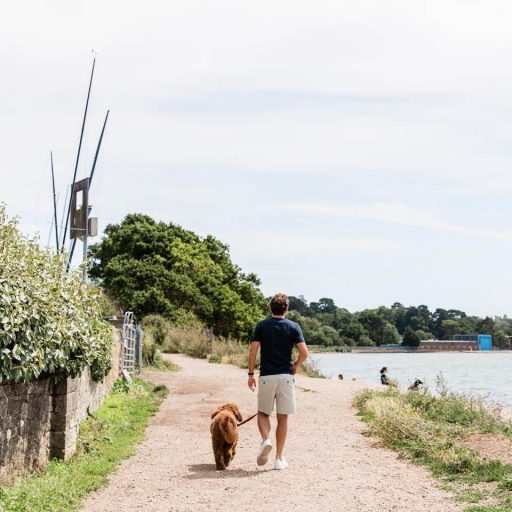 Southampton waterfront - financial advisor Simon garber walking in warsash